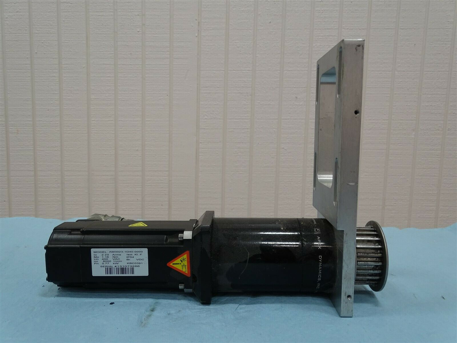Beckhoff AM3023-1D40-0000 Servo Motor w/Apex Dynamics Reducer 20:1 Ratio