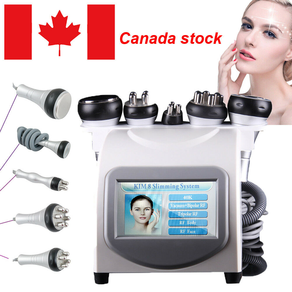 5 in1 Ultrasonic Cavitation Radio Frequency Slimming Machine Vacuum SPA CA Stock