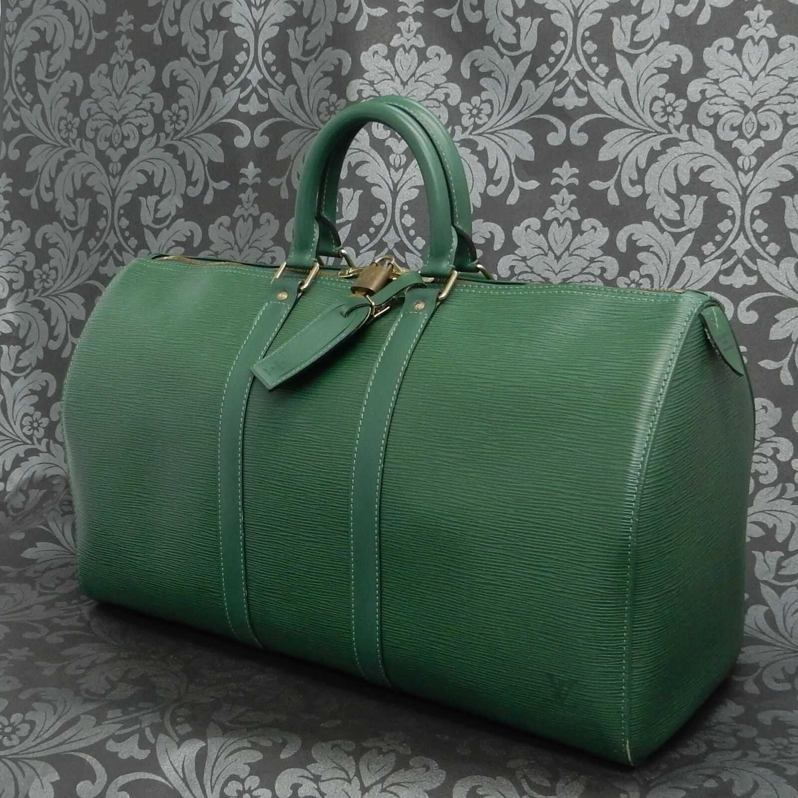 Rise-on LOUIS VUITTON EPI KEEPALL 45 Green Travel Bag #13 t