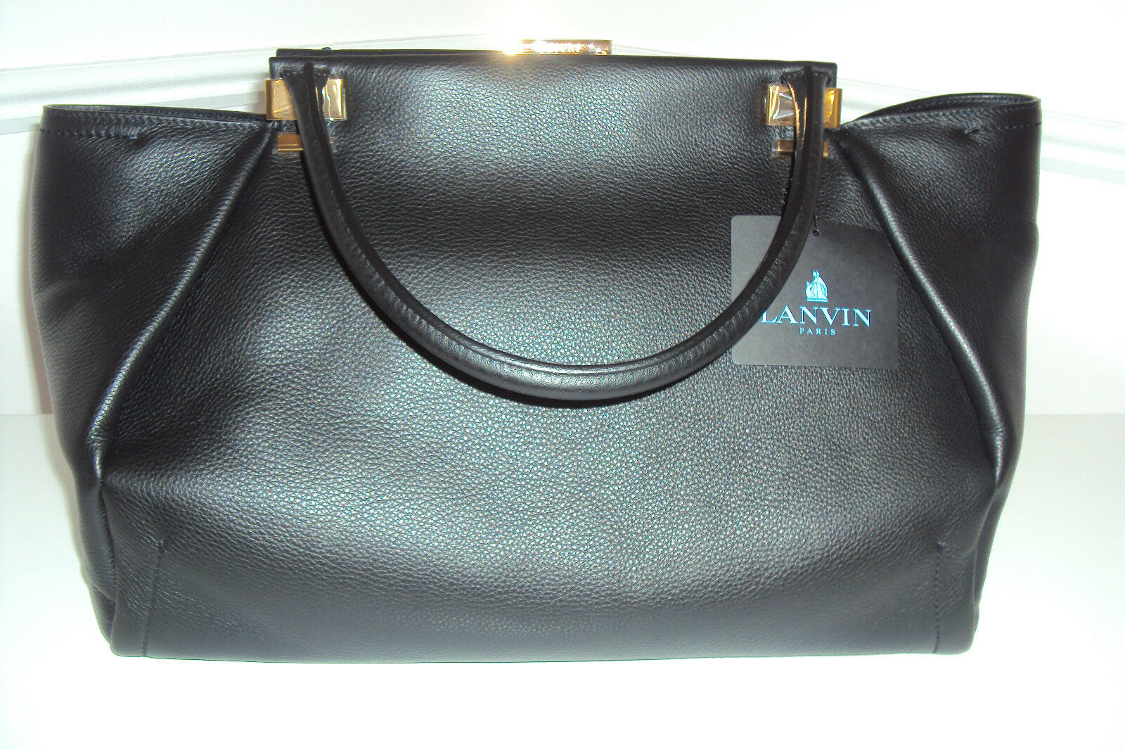 LANVIN TRILOGY HANDBAG LARGE SIZE  NWT + RECEIPT FOR $2,500.00