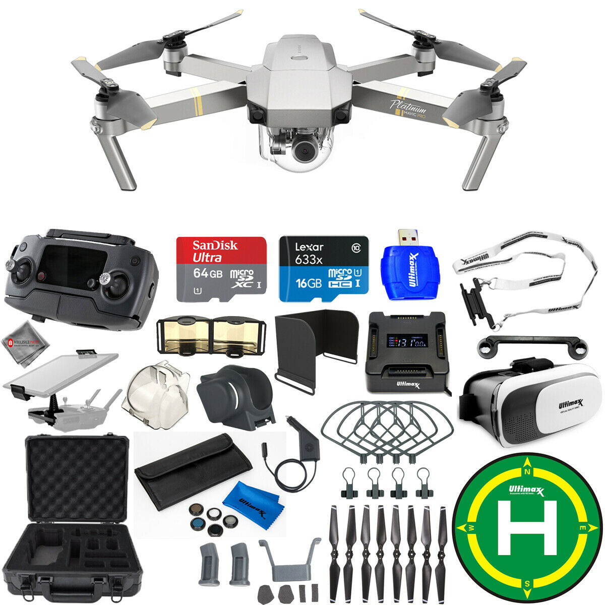 DJI Mavic Pro Platinum Edition Mega Accessory Bundle With Hard Case + Much More
