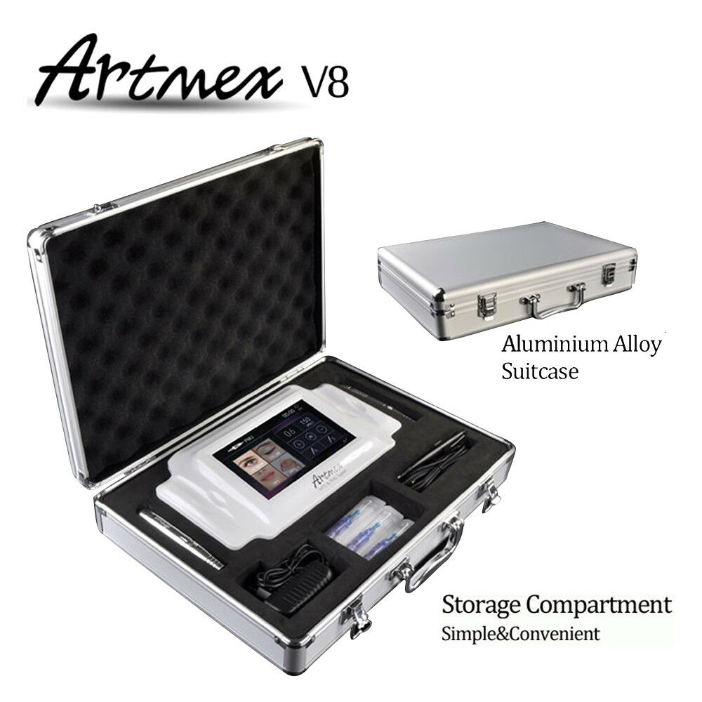 Digital Permanent Makeup Tattoo Machine Artmex V8 Touch Screen With Two Handles