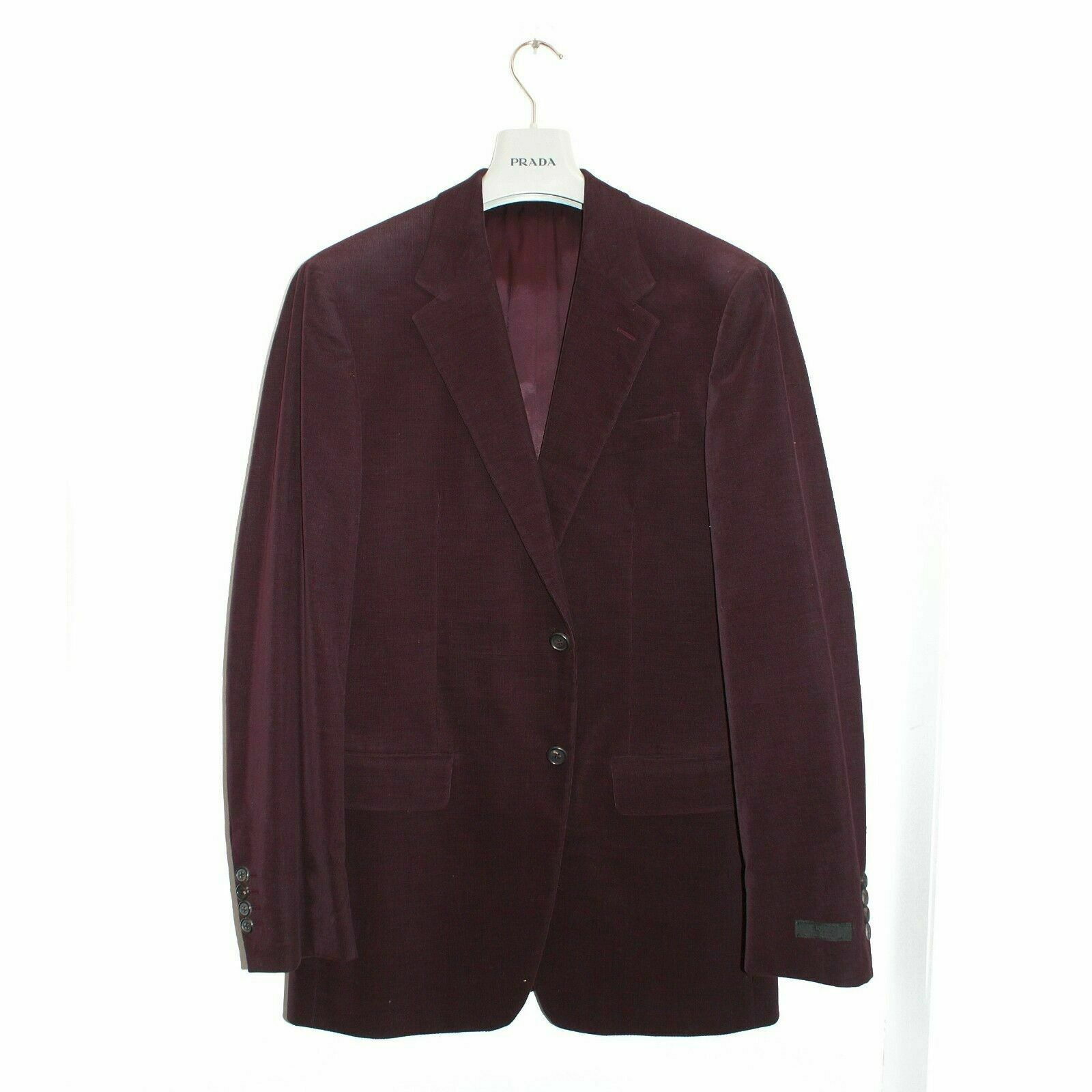 NEW Mens Prada Fine Corduroy Blazer in Bordeaux Size 50R BNWT RRP £720 Smart