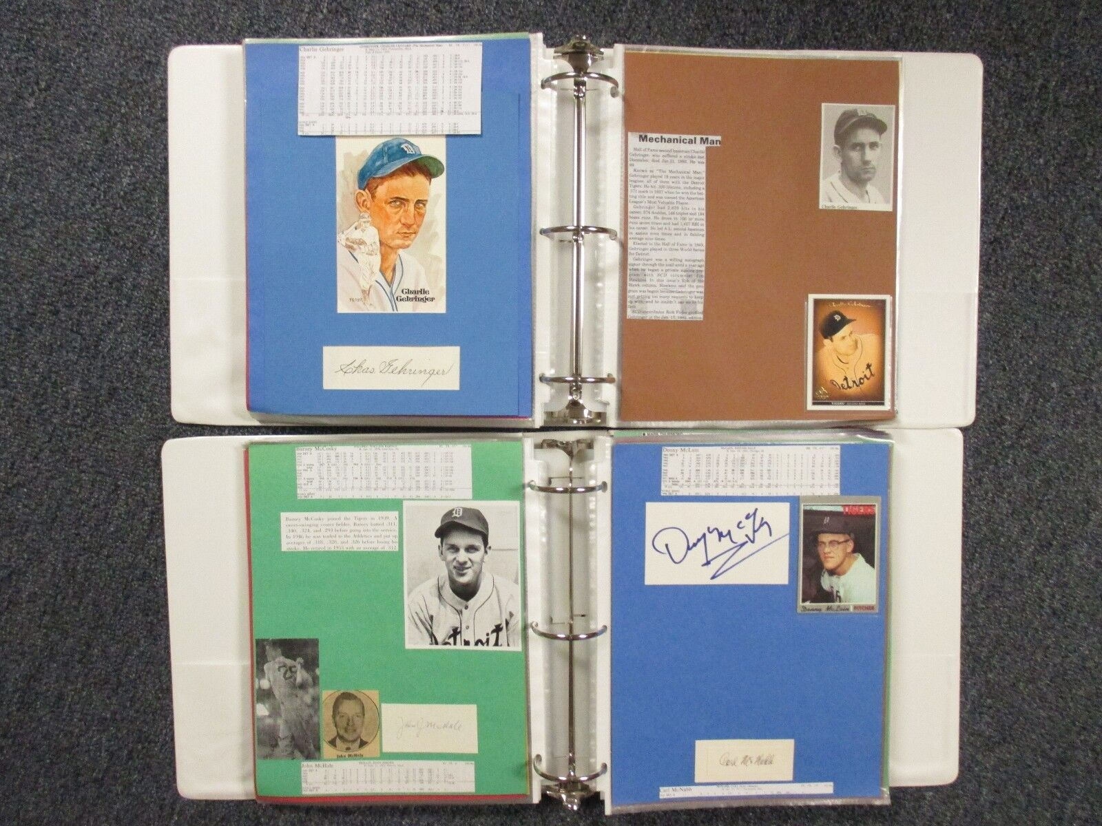 Tigers (2 Albums/184 Pages/100 Autographs/255 + Players/Some Obit/Chas Gehringer