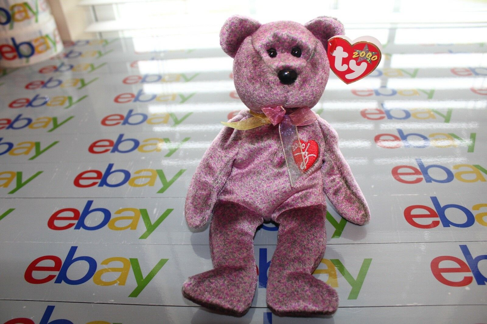 TY 2000 SIGNATURE BEANIE BABY BEAR.. SUPER REAR MINT NEW GUARANTEED........
