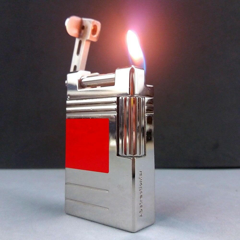 S.T. Dupont Urban Abstractions 2000 Red Lift Arm Hammer Lighter 0522/2500