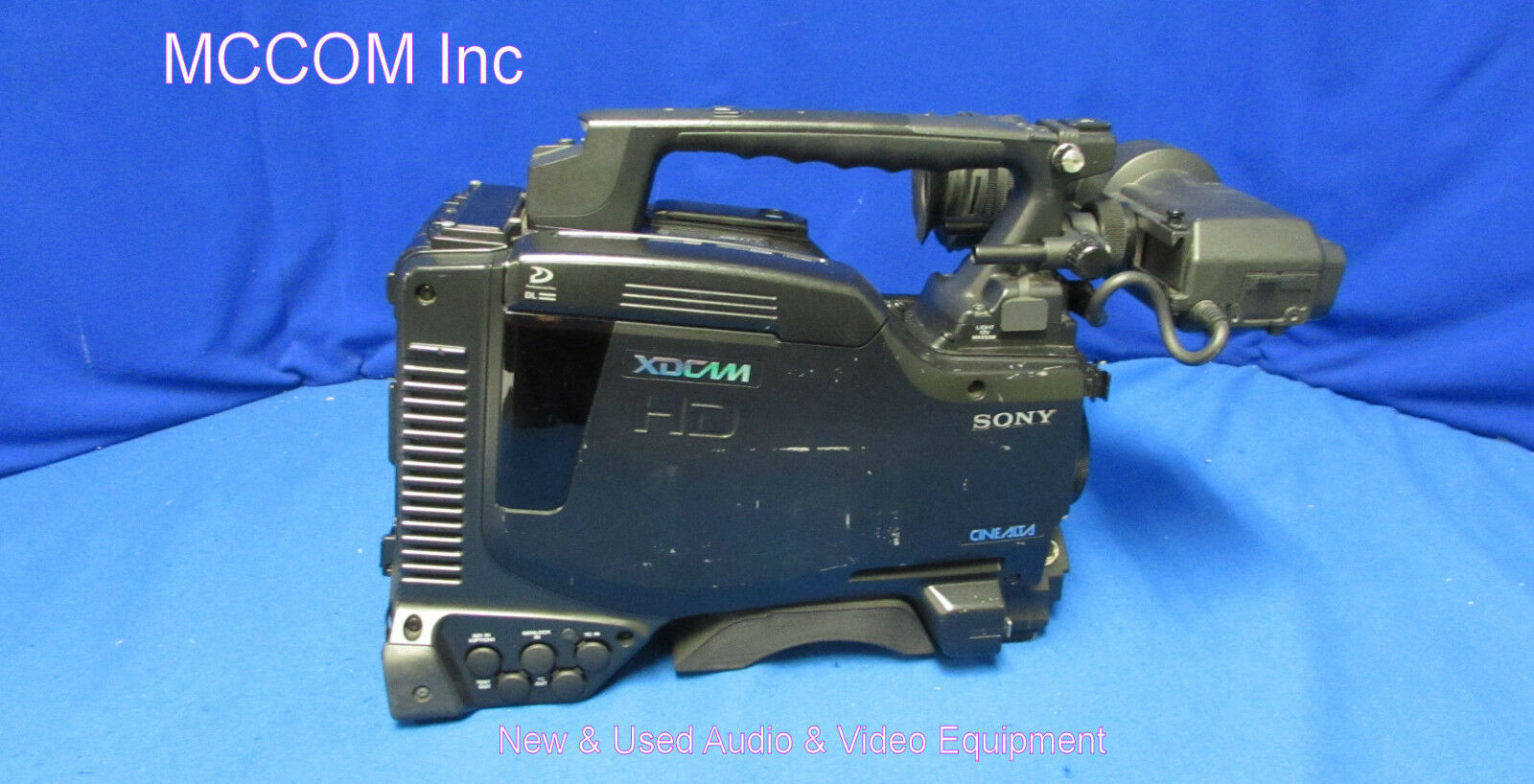 Sony PDW-F800 HD XDCAM Camcorder w/ 624 laser hrs, HDVF-200 VF, Macie Serviced