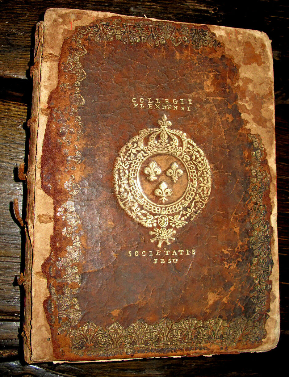 1646 Balzac KING LOUIS XIV ROYAL Binding FRENCH Bookplate HAND COLORED Slave