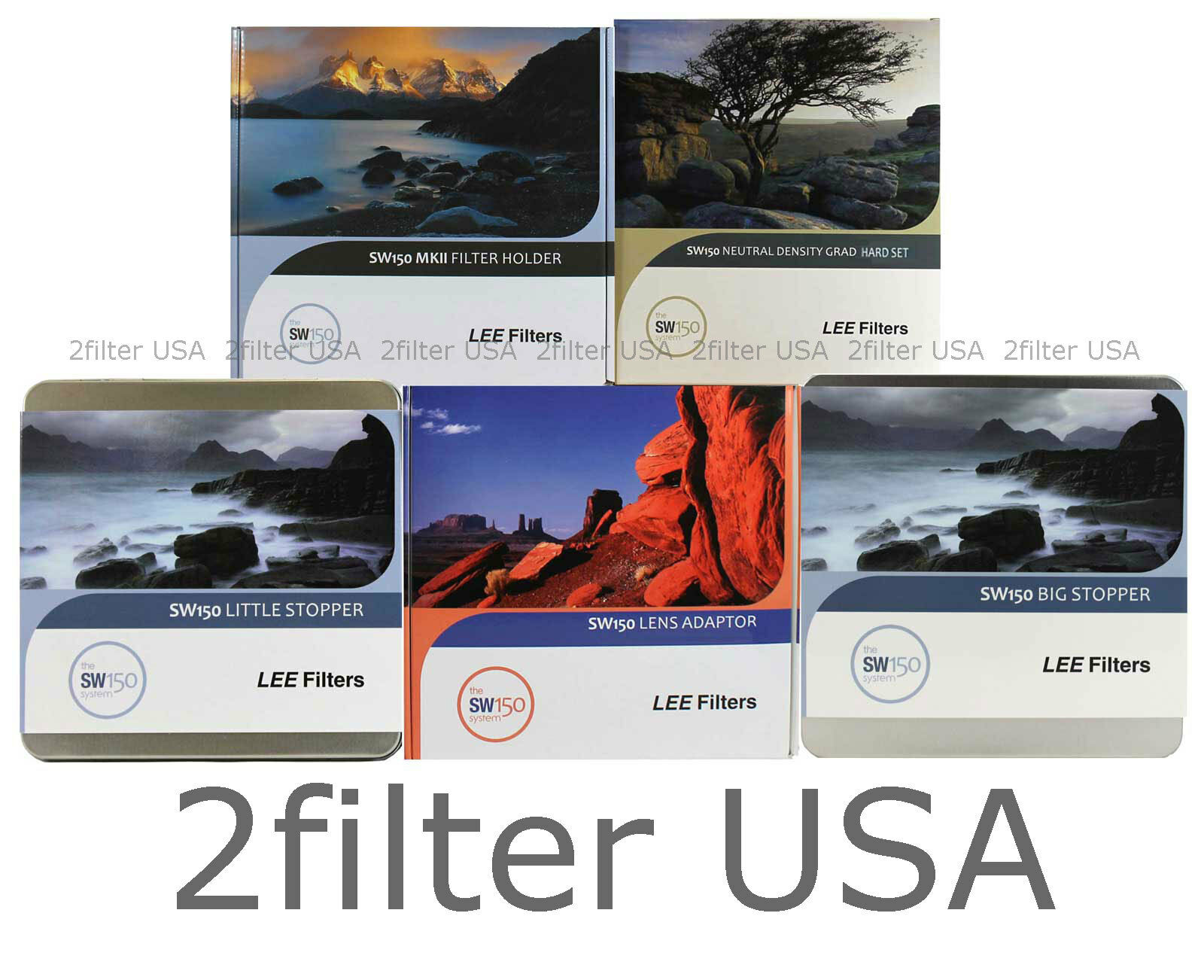 Lee Filters SW150 Oceanscape Pro Kit for Canon 11-24mm ND 1.8+3.0 Hard Grad Set