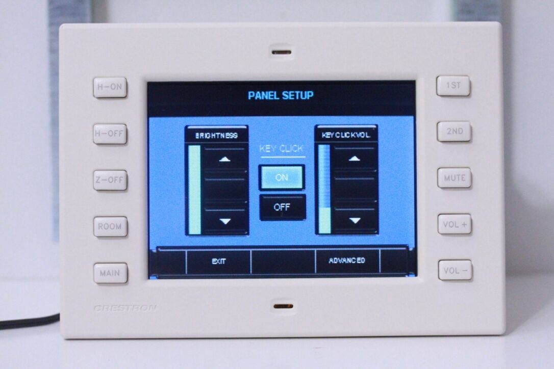 FULLY TESTED Crestron TPS-2000L In-Wall 5'' Touch Panel (White)