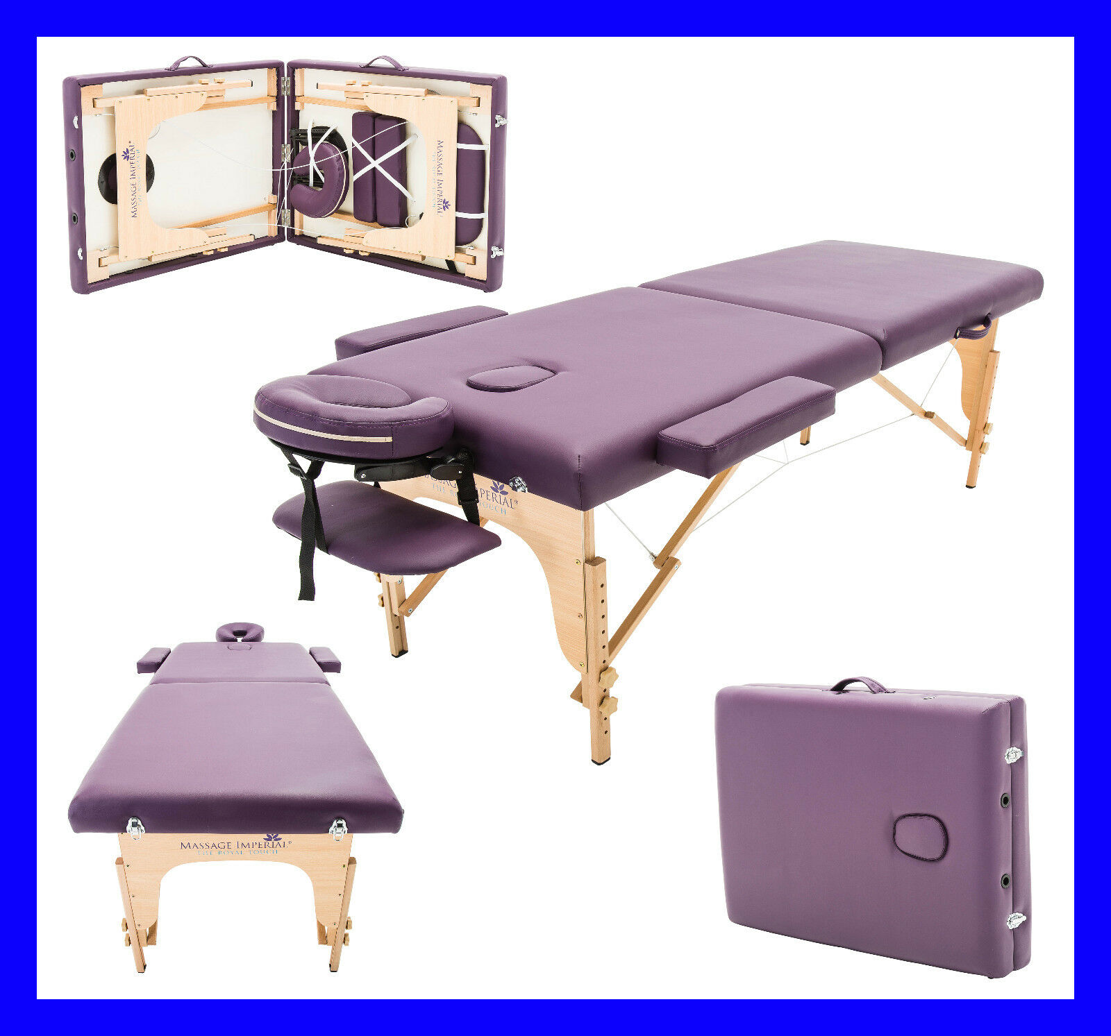 MASSAGE IMPERIAL® PURPLE CHARBURY PORTABLE MASSAGE TABLE COUCH BEAUTY BED REIKI