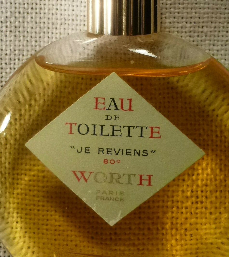 Vintage WORTH Paris Je Reviens Eau De Toilette 90° 2 oz France LALIQUE 1940's