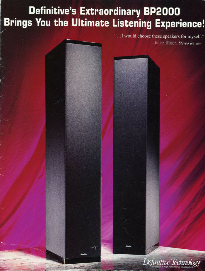 New Definitive Technology BP2000 Speakers (2) a pair of subwoofers