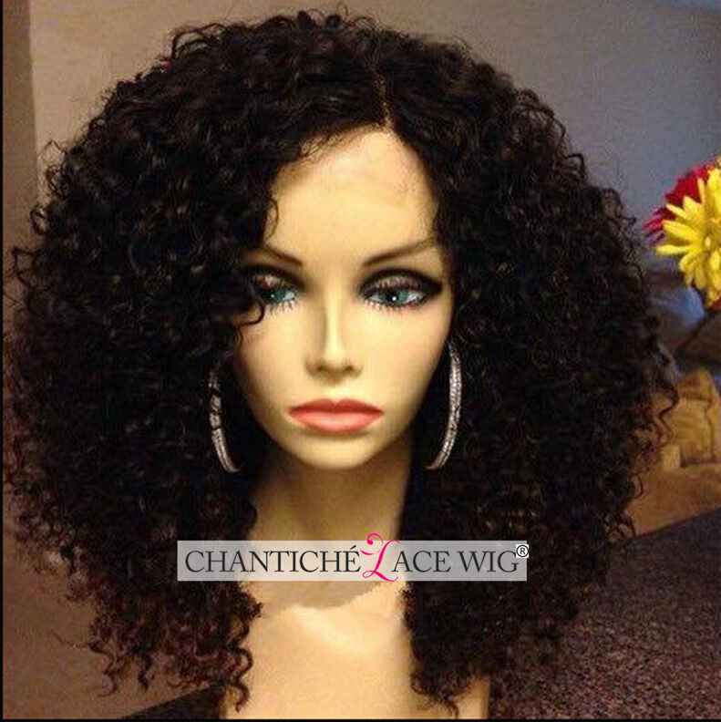7A Glueless Curly Human Hair Lace Front Wigs Short Brazilian Remy Hair Wigs 12
