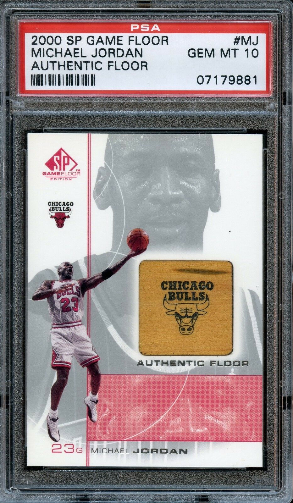 2000 SP Game Floor Authentic Floor #MJ Michael Jordan PSA 10 GEM MINT. POP 8