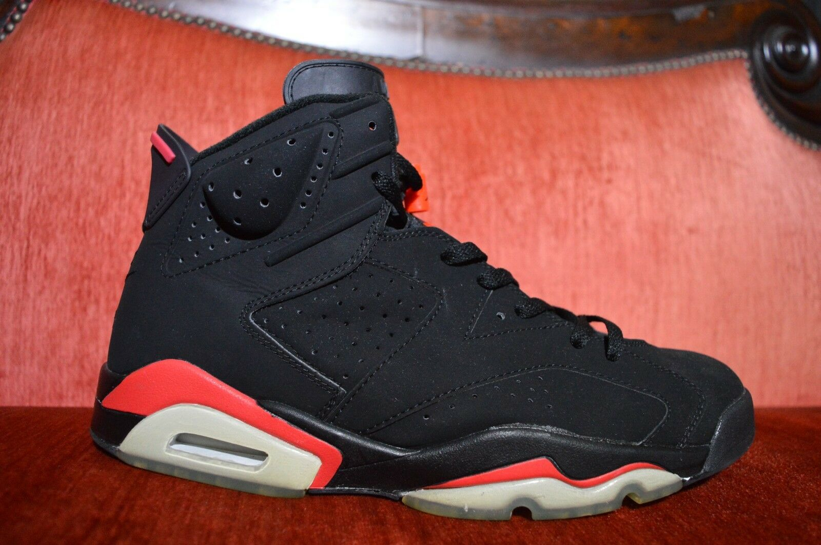 2000 Nike Air Jordan VI 6 Retro + BLACK DEEP INFRARED RED BRED 136038-061 12