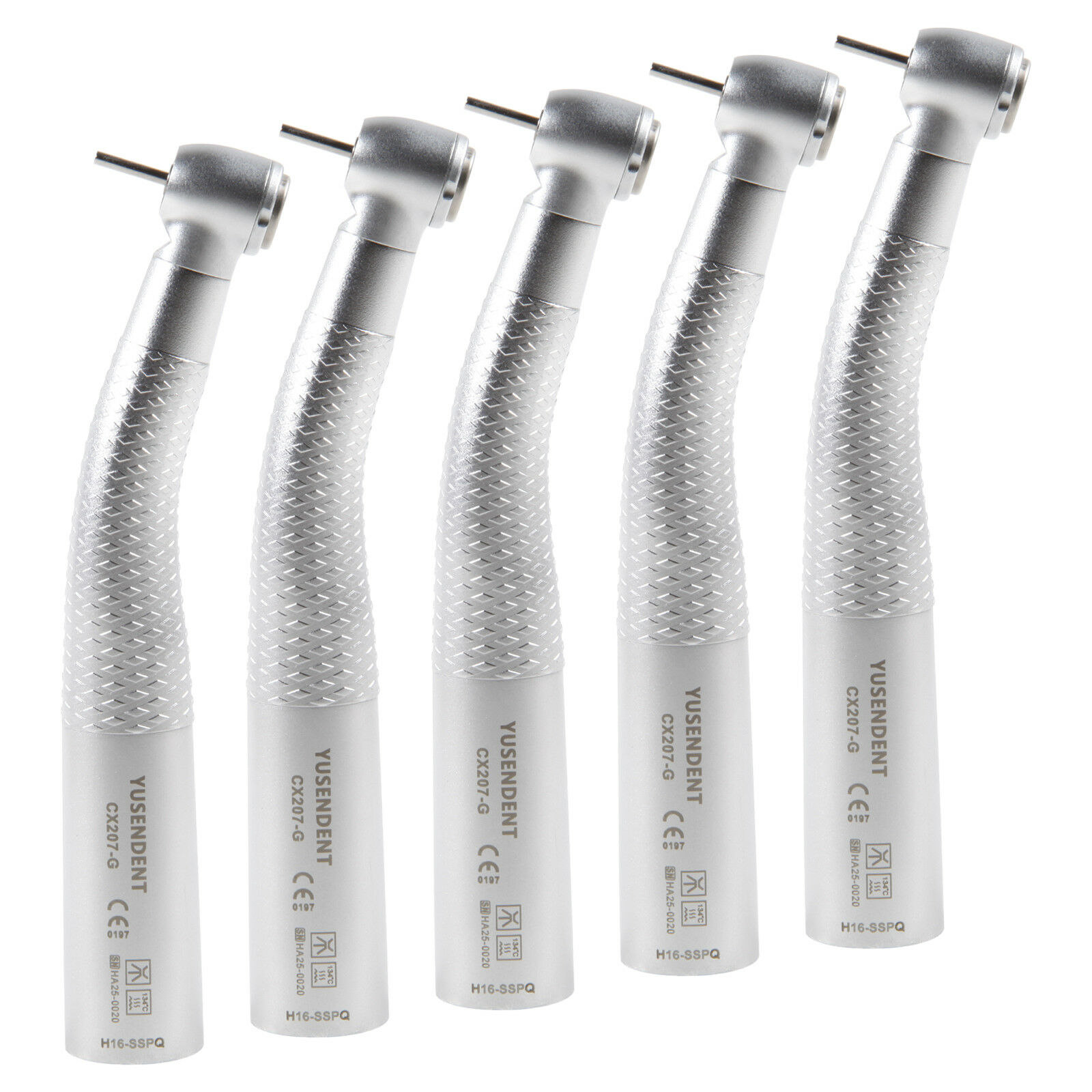 5PCS Dental Fiber Optic LED Turbine Handpiece fit Sirona R/F Coupling YUSENDENT