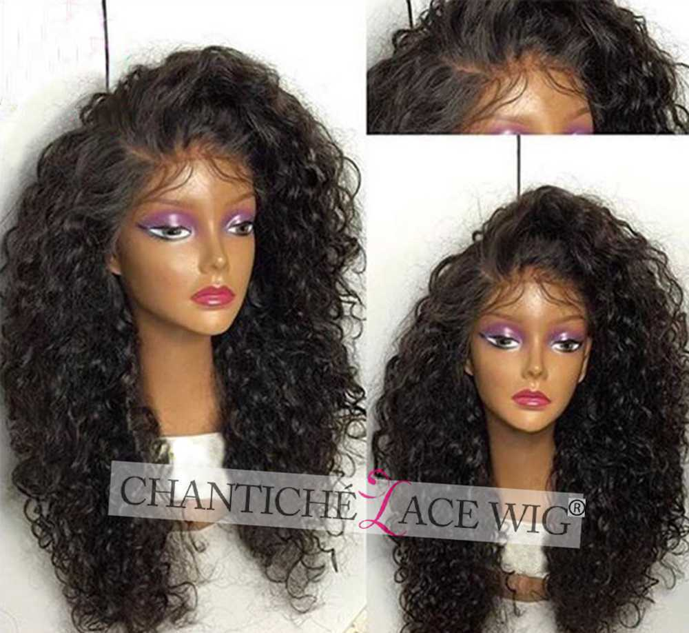 Cheap Lace Front Curly Wigs Brazilian Remy Human Hair Wigs For Black Women