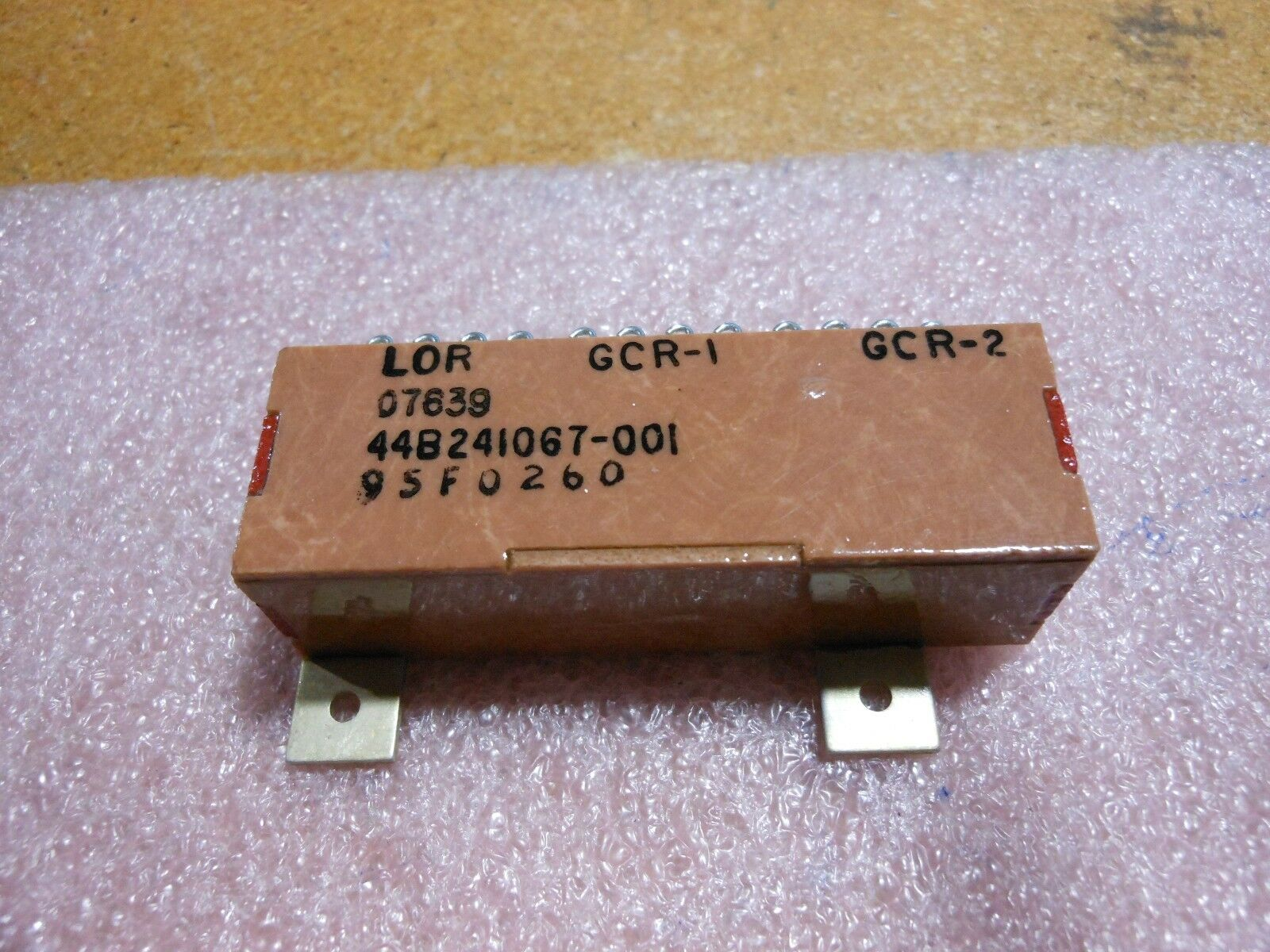 GE AVIATION RELAY PART # 44B241067P1 NSN: 5945-00-880-5150 # 44B241067-001