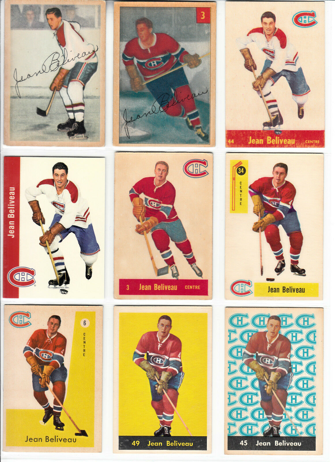 1953-54 PARKHURST # 27 JEAN BELIVEAU RECRUE LOT (28)
