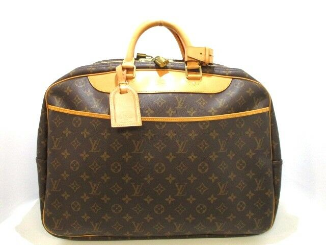 Auth LOUIS VUITTON Monogram Alize 24H Van Cattle M41399 Boston Bag VI0030
