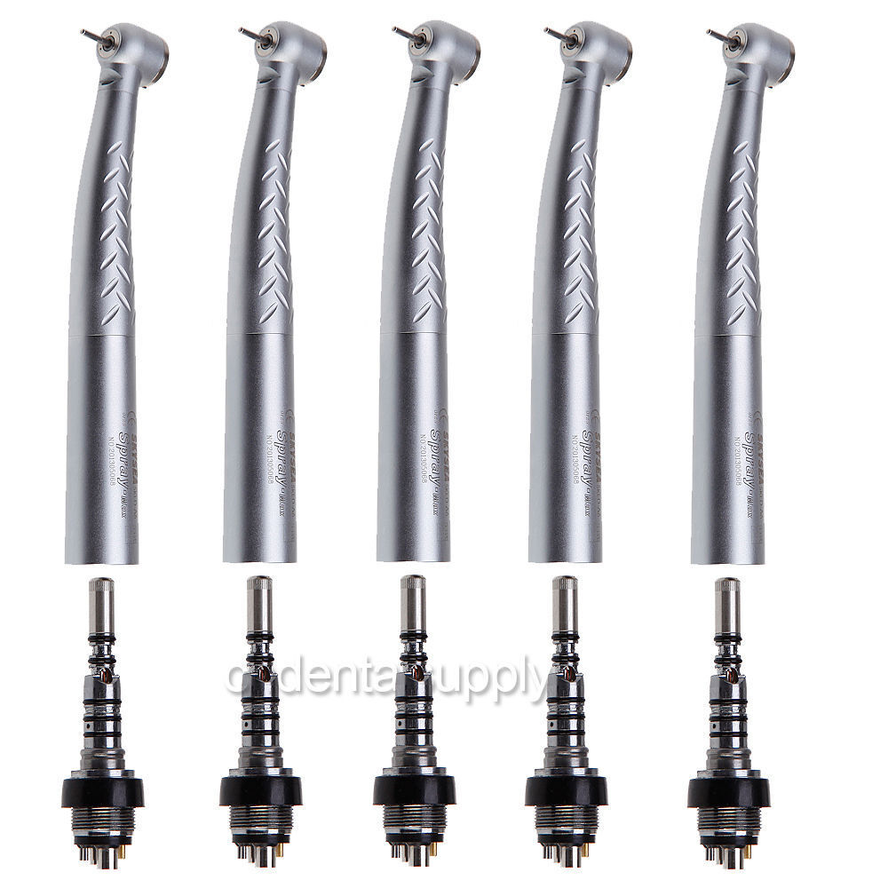 5 Dental Fiber Optic Handpiece High Speed LED Turbine Fit KAVO Coupler 6Hole A6