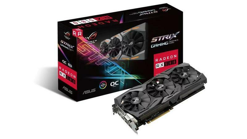 Brand New ASUS ROG STRIX TOP Overclocked Edition Gaming RX 580 8GB Graphics Card