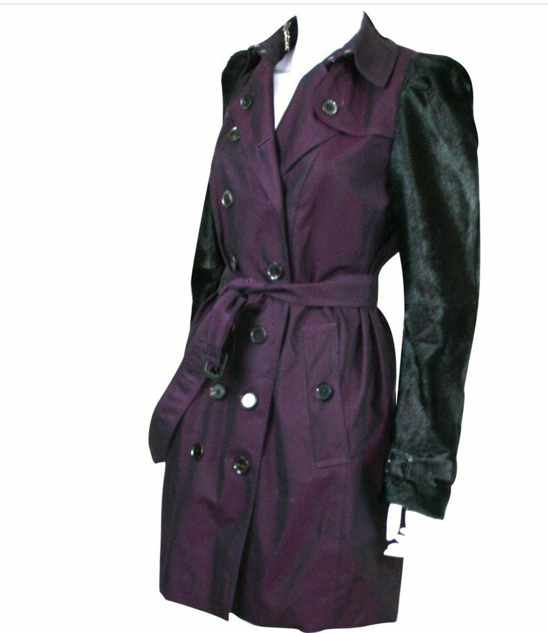 BURBERRY LONDON PURPLE TRENCH COAT SIZE 40I