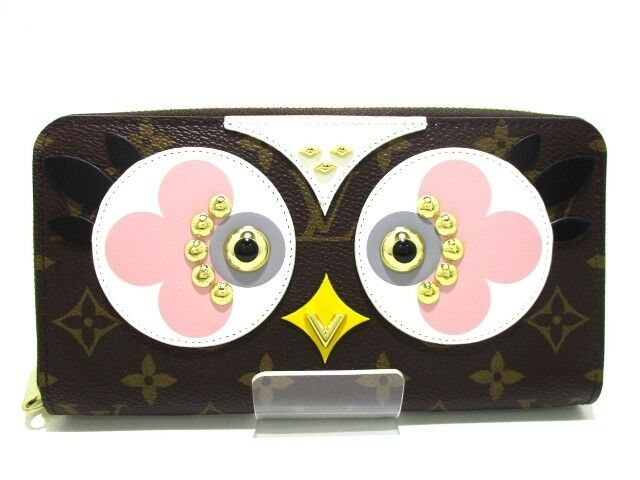 Auth LOUIS VUITTON Zippy Wallet M62413 Lovely Bird Monogram Canvas CA0197