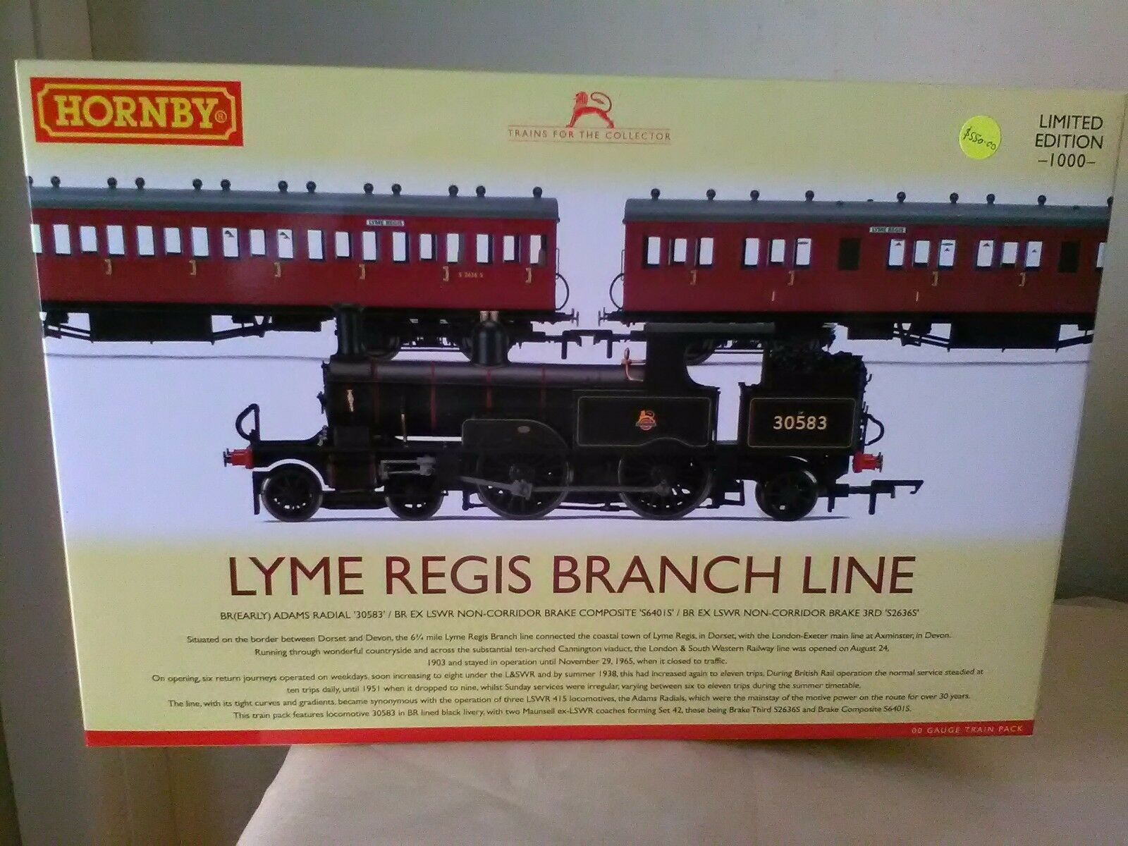 Hornby R3398 Lyme Regis Branch Line Train Pack - Ltd Ed New