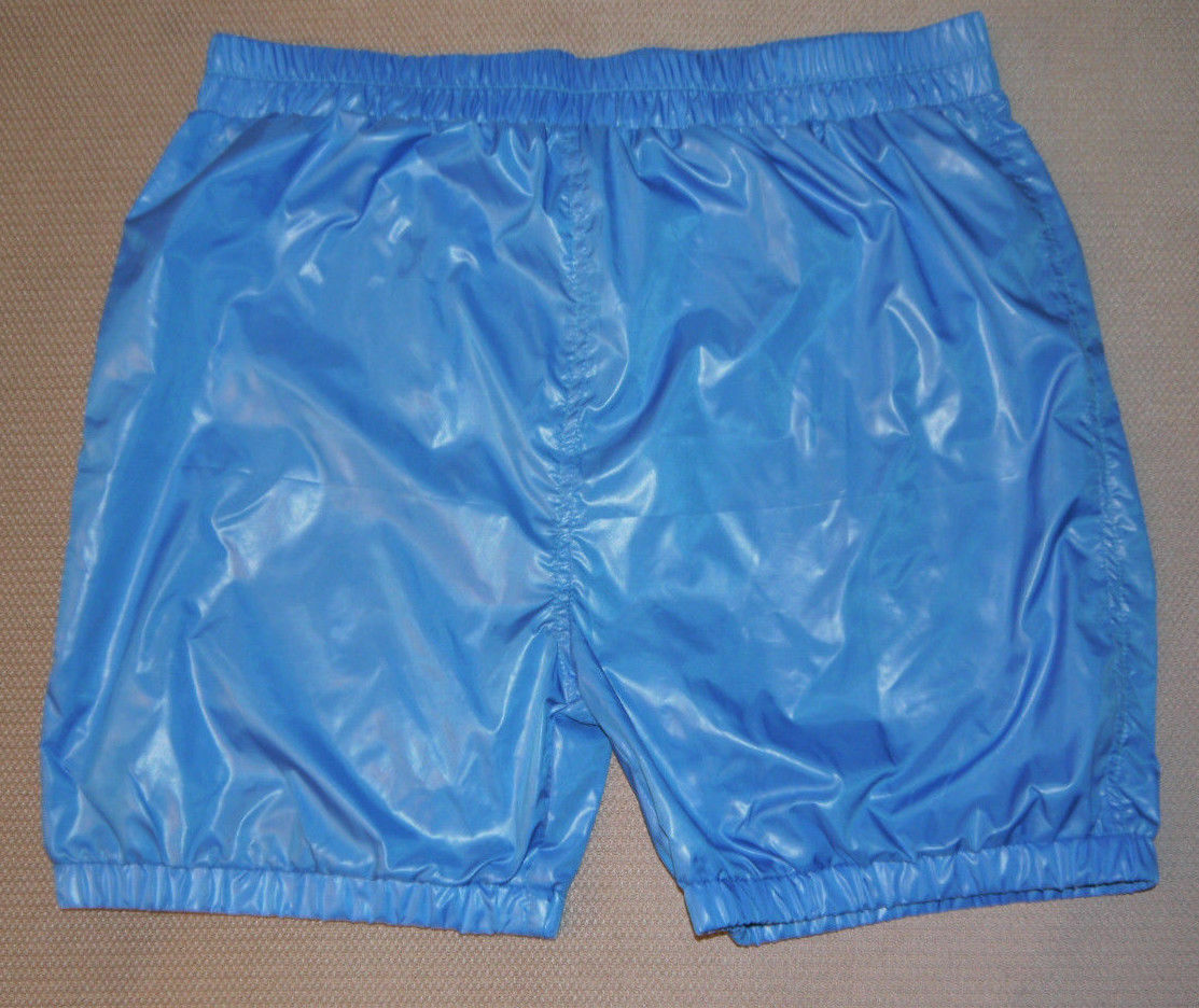 Shiny nylon  shorts with lining 10 - black, red, navy blue, blue, grey  - S-5XL