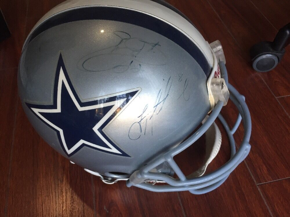 Dallas Cowboys AUTO Signed Full Size Helmet 10 HOF Players AIKMAN SMITH IRVIN