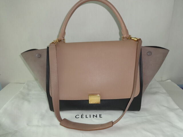 Authentic Celine Tri-color TRAPEZE Shoulder bag Very good to excellent condtion
