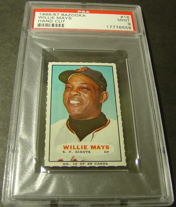 1966-67 BAZOOKA #16 WILLIE MAYS HOF PSA 9 GIANTS   POP 9
