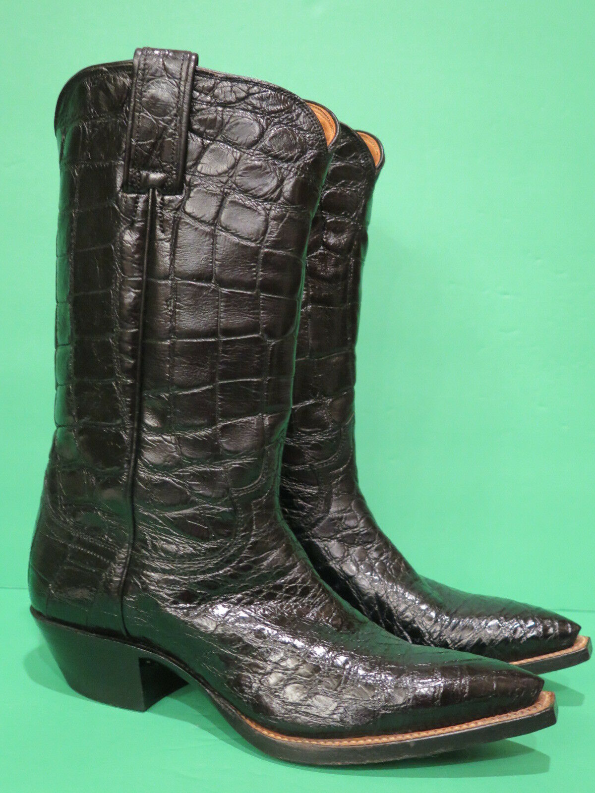 Vintage Justin Full Alligator Ladies Cowboy Western Boots Custom