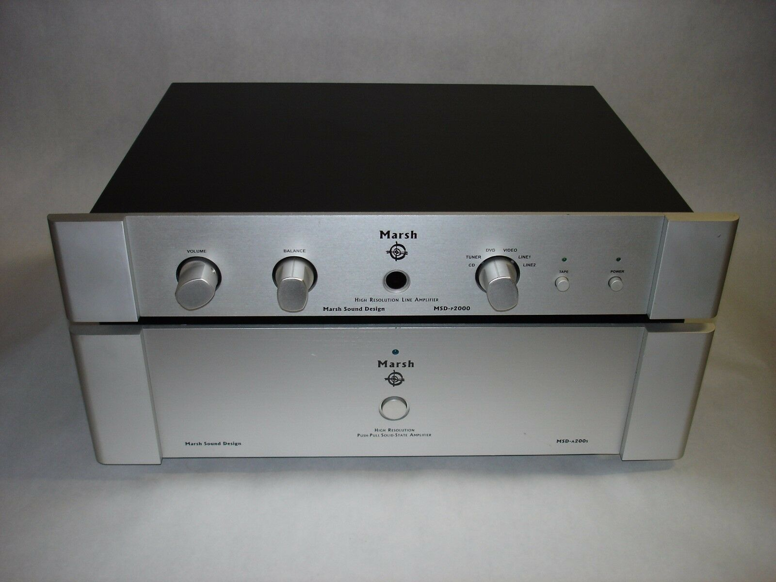 Marsh MSD-P2000 Preamplifier and Marsh A200s Stereo Power Amplifier Both Work!