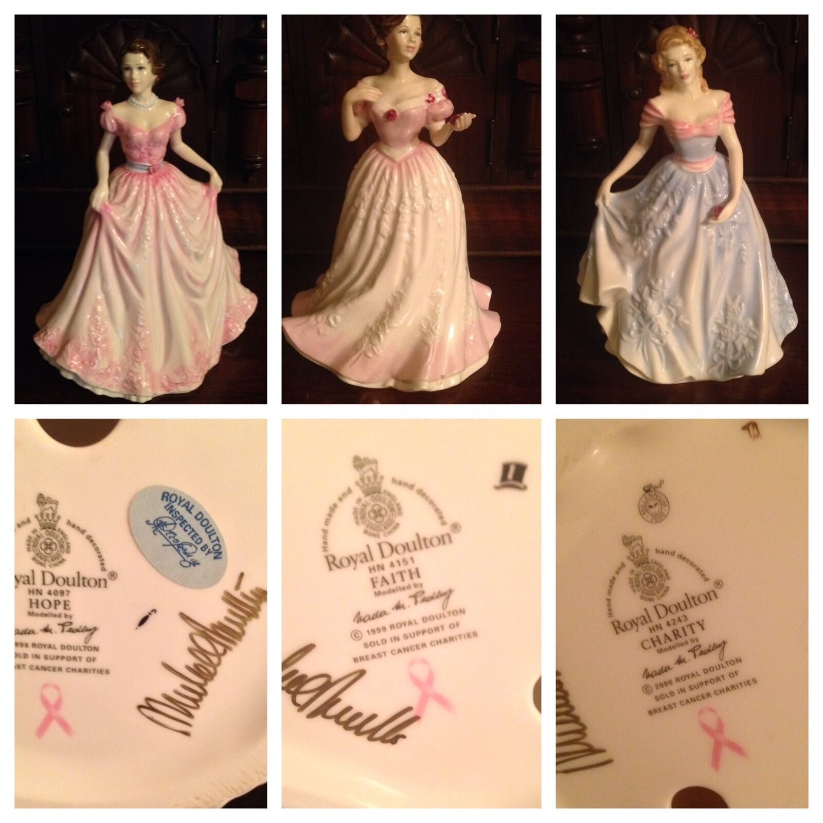 Royal Doulton Breast Cancer Porcelain Charity Collection signed by W. Dalton