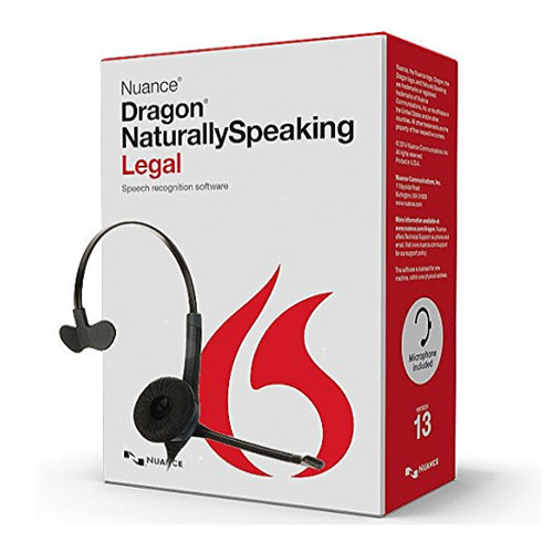 Nuance A509A-G00-13.0 Dragon NaturallySpeaking Legal Version 13