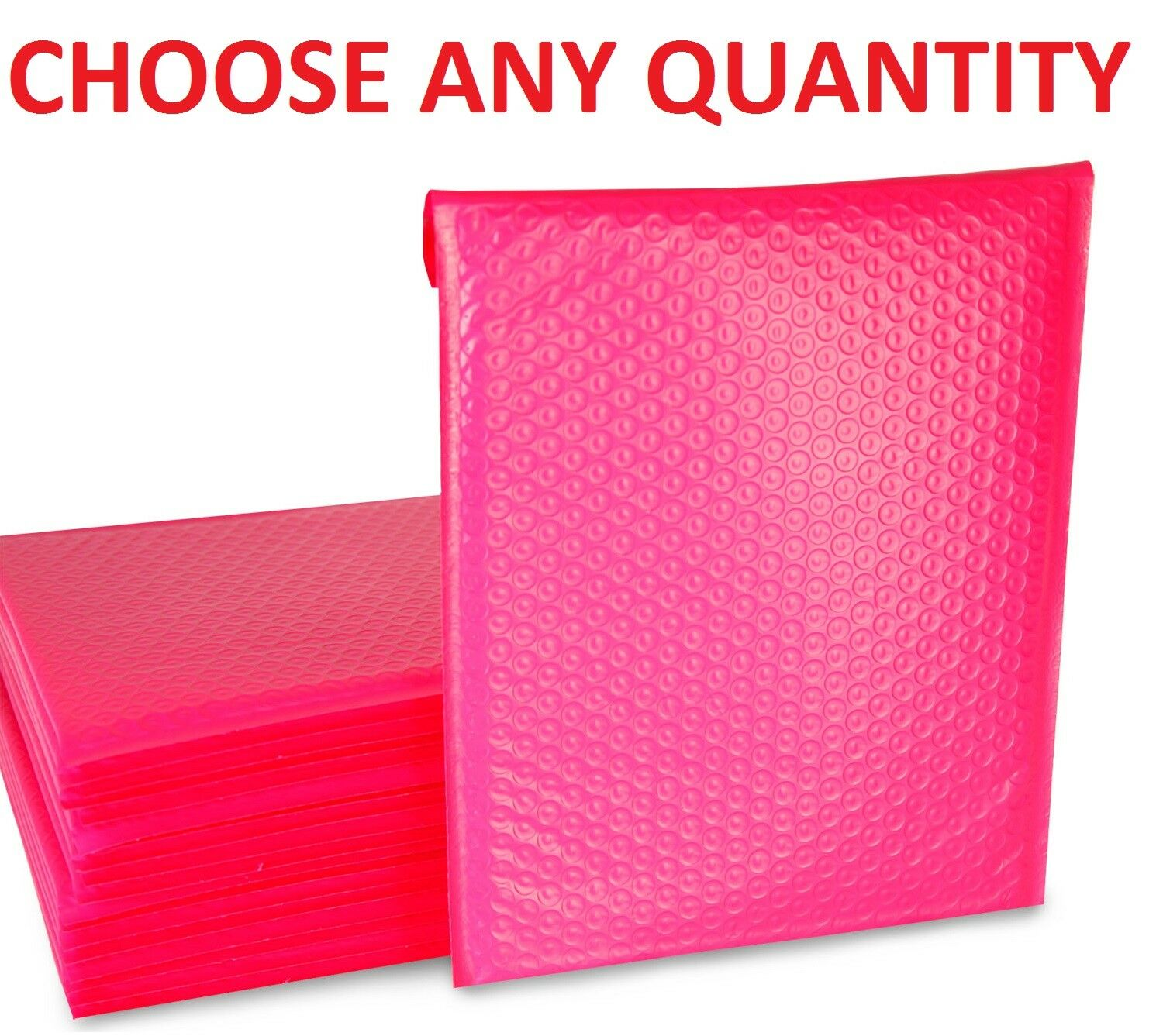 HOT PINK ANY SIZE POLY BUBBLE MAILERS SHIPPING MAILING PADDED BAGS ENVELOPES