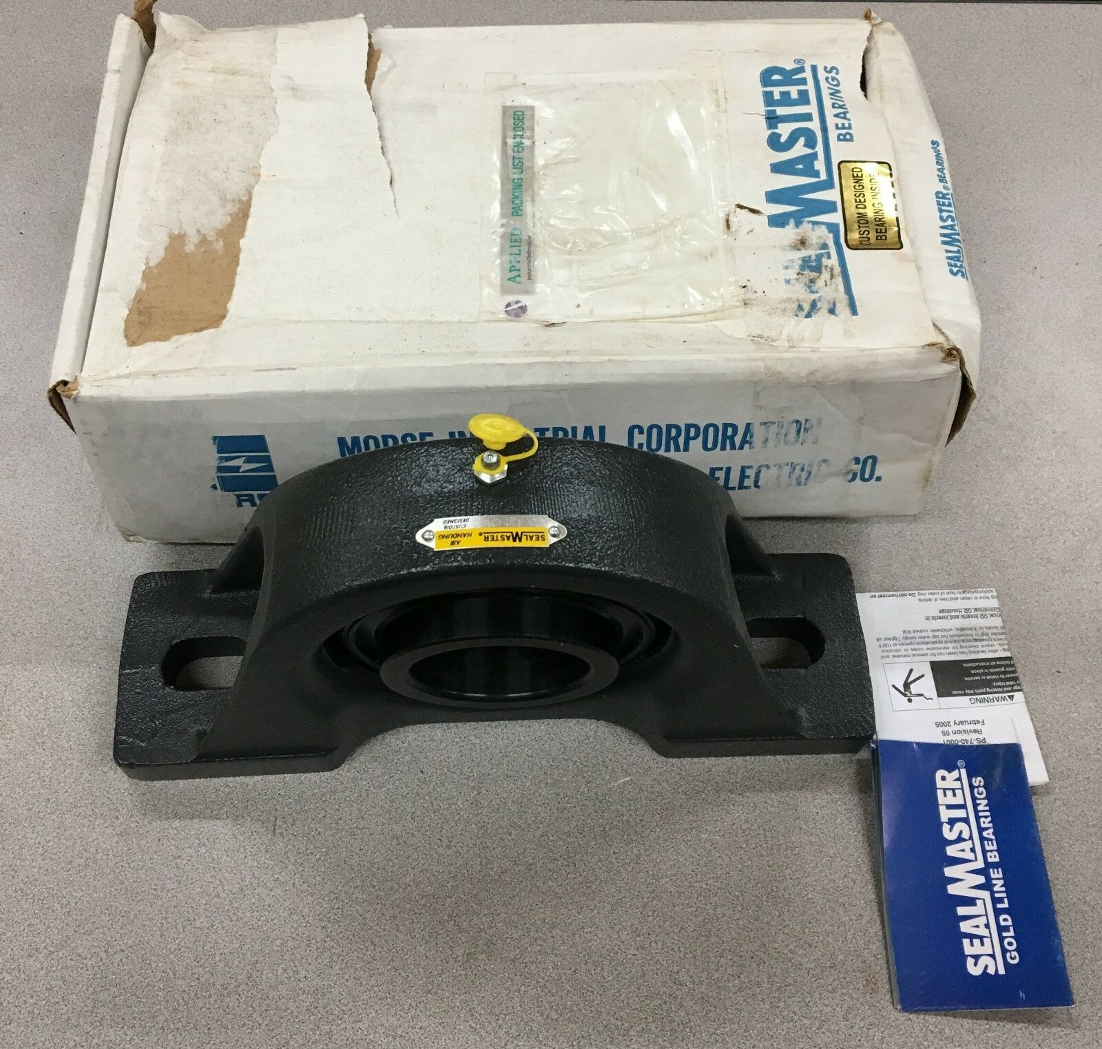 NEW IN BOX SEALMASTER PILLOW BLOCK BEARING 2-11/16