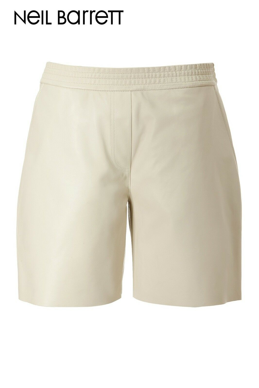 Neil Barrett Natural Leather Shorts Cream - Small>RRP £750.00