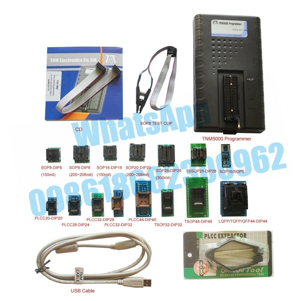 TNM5000 EPROM Programmer+15 socket+IC Clip for NAND/Flash/MCU/PLD/CPLD/FPGA/JTAG