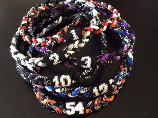 200 pc bulk order Baseball/Softball Braided 3-Rope Necklaces with Jersey Number!
