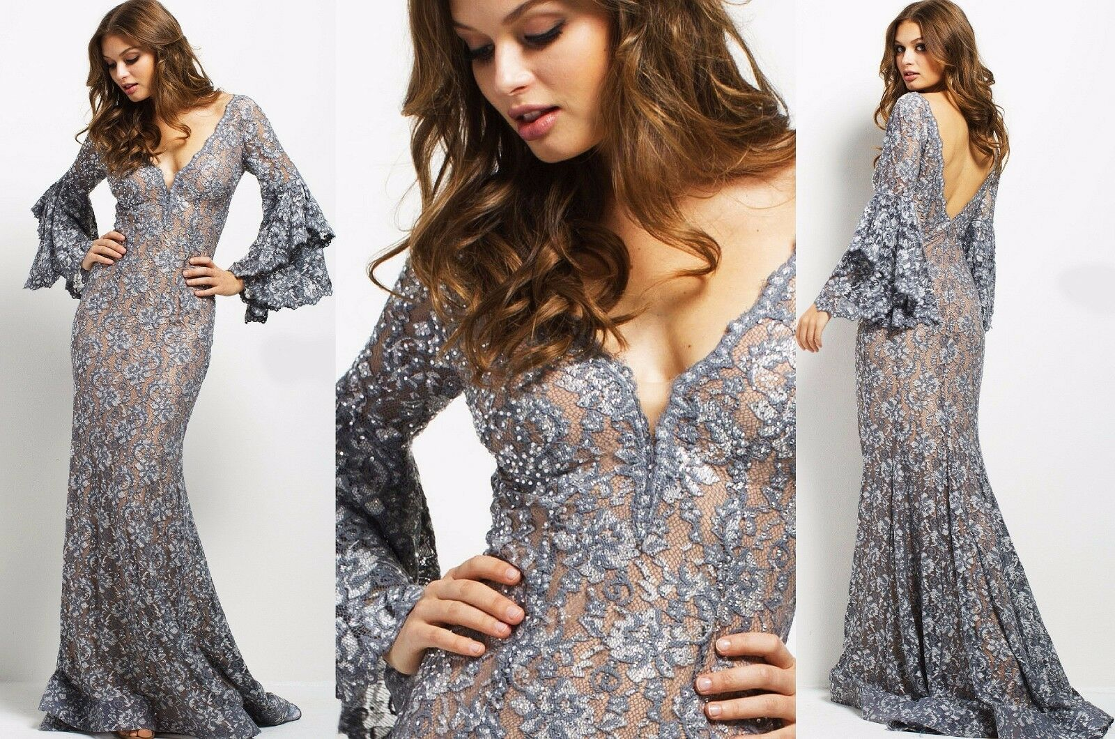 JOVANI 2018 COLLECTION ! 57048 authentic dress. FREE USPS. MANY SIZES