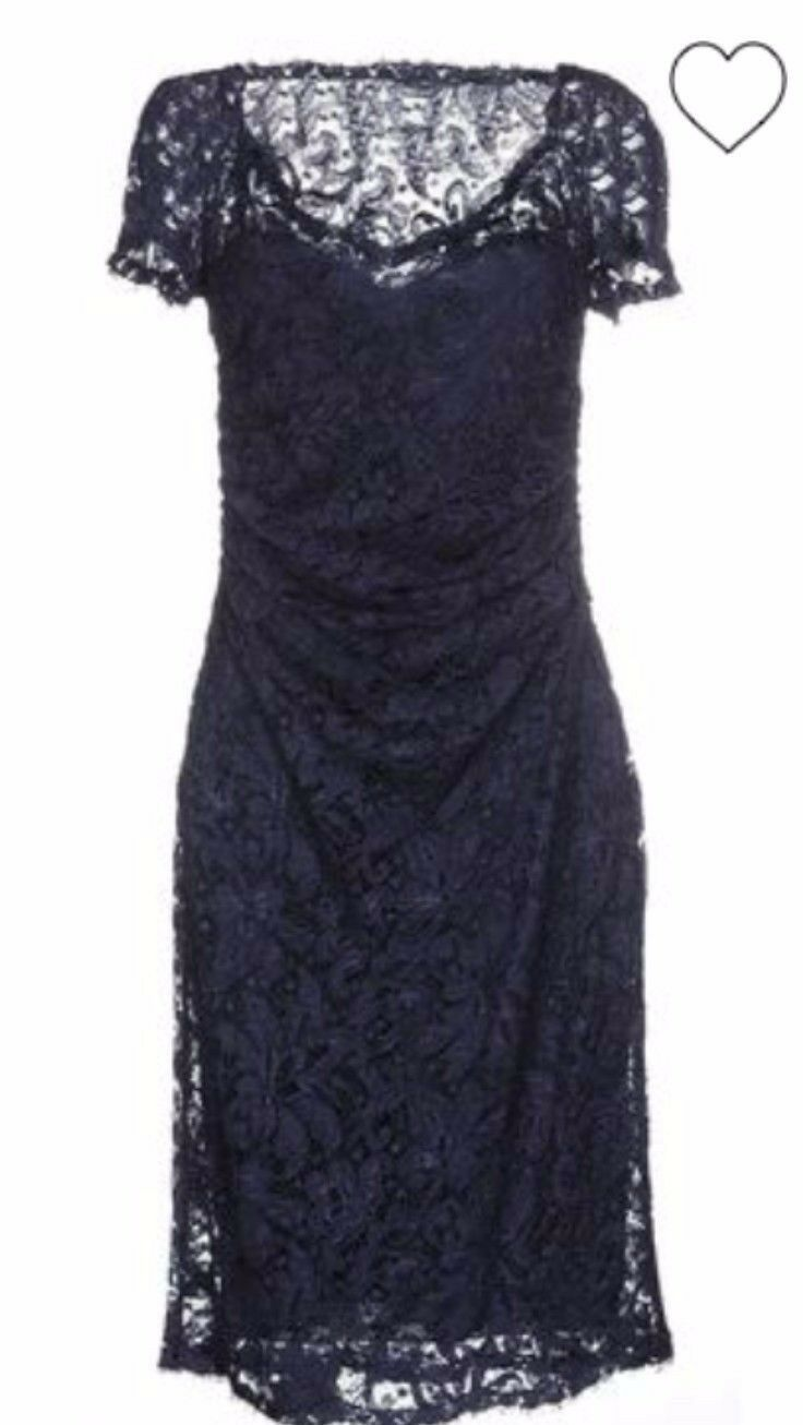 EMILIO PUCCI Lace Knee-Length Dark Blue Navy Dress IT 44 US 10 WORN ONLY ONCE!