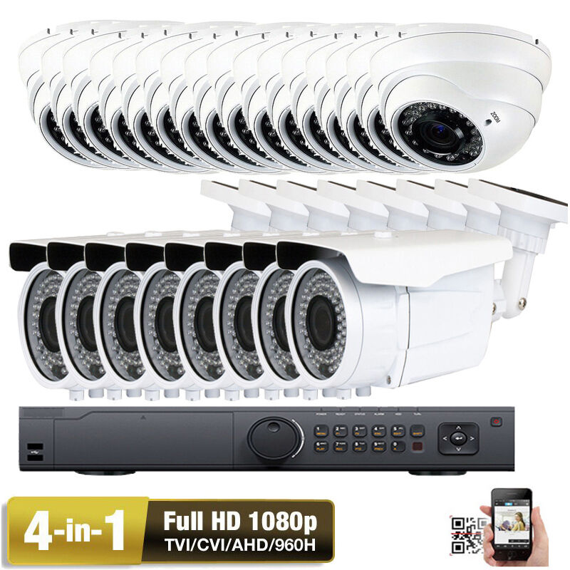 32CH 2.6MP 1080P HDTVI 24 Support 4 in 1 Outdoor N00 960H Security Camera System