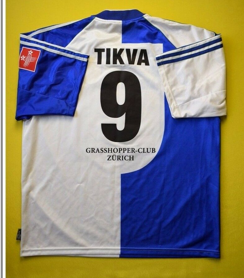 4.9/5 GRASSHOPPERS #9 TIKVA 1999~2000 FOOTBALL SHIRT JERSEY MATCH WORN ADIDAS