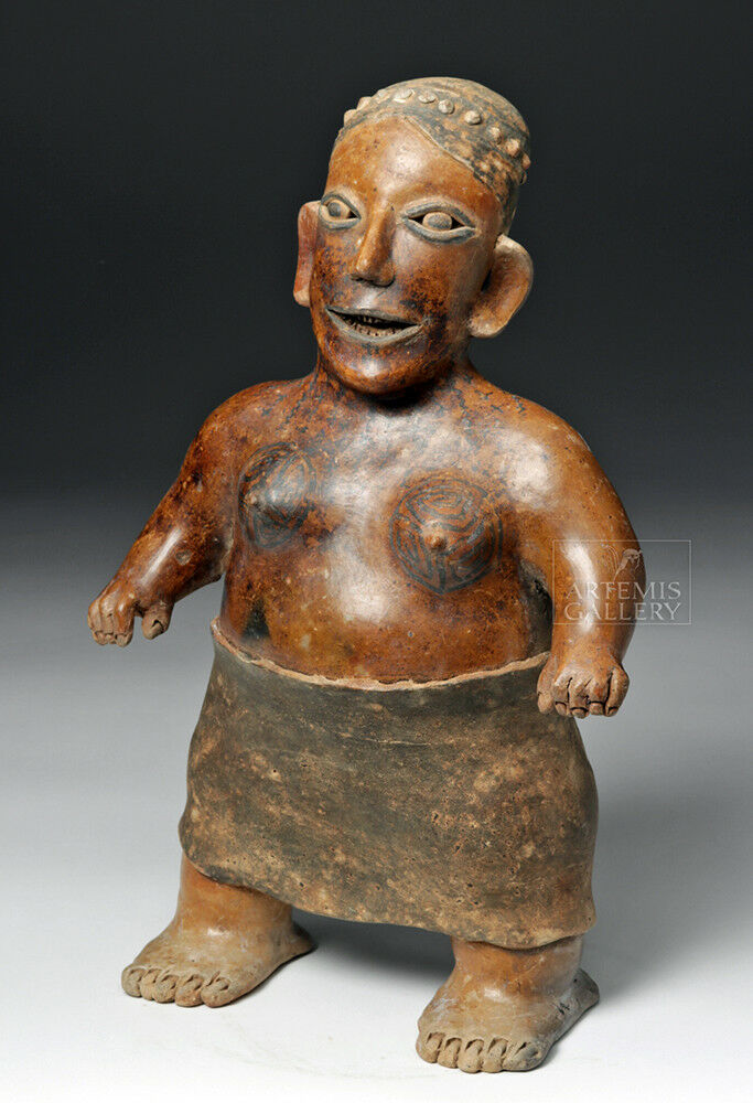 Jalisco Pottery Standing Female. Ameca-Etzatlan Style Lot 93B