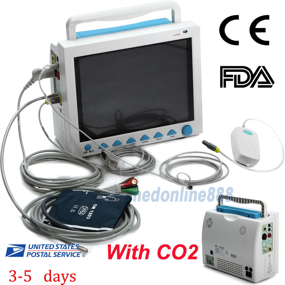 Multi Language CO2 Function Patient Monitor ICU Vital Signs 12.1 LCD FDA From US