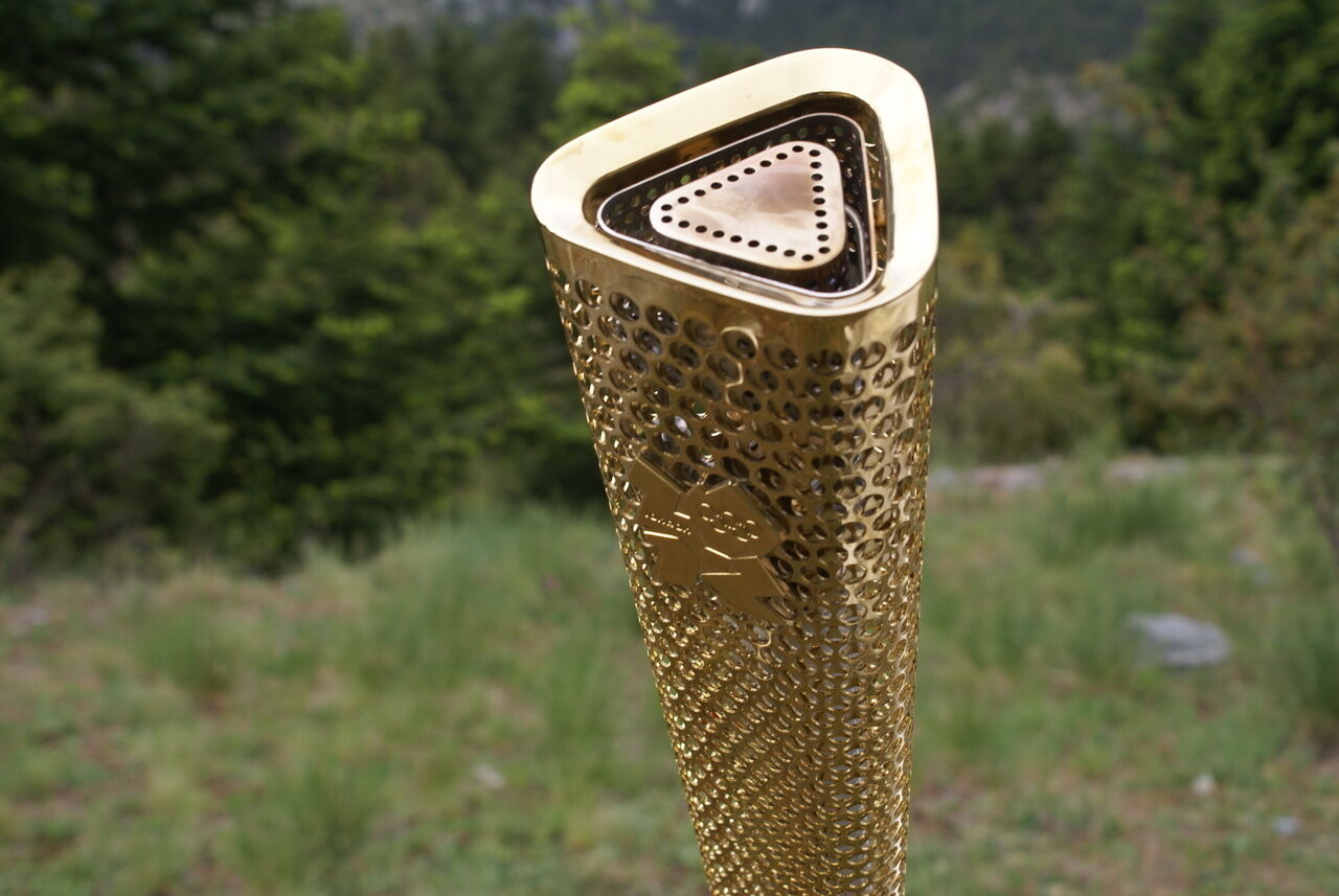 London 2012 Olympic Games Torch Signed by NADIA COMANECI Limited Edition 4 of 10